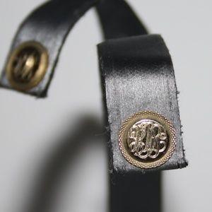 Vintage gold monogrammed earrings KMS